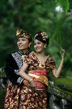 Traditional Balinese wedding dress.