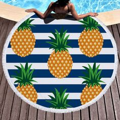 Pineapple Beach Towels Assorted Colors /& Brands