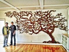 "Custom Tree of Life Installation 21' x 9' (on 3"" stand-offs) - Rowland Augur"