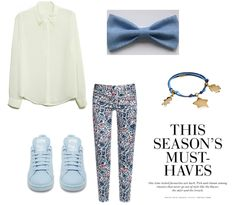 #shirt #blue #bow #perfect