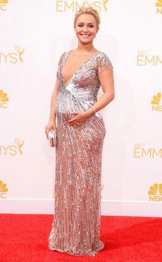 Hayden Panettiere revela o sexo do bebê no Emmy 2014