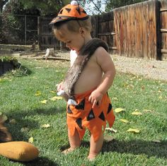 Bam Bam Costume made to order sizes 12 months, 2T, 3T, 4T. $90.00, via Etsy.