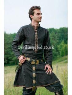 Green Medieval Garb Tunic for Men