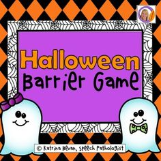Freebie! Halloween Barrier Game for speech and language therapy