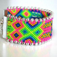 """Bracelet manchette brésilienne """"sangria"""" (pièce unique)"""