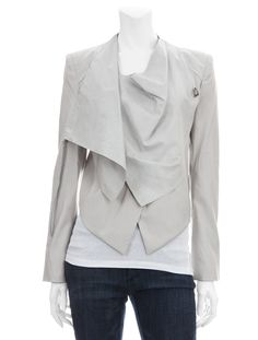 Scoop NYC | Helmut Lang :: Linen Leather Jacket :: Women - AFTER DARK - THE ULTIMATE CLOSET