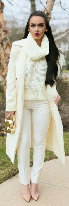 How to Wear all White in Winter + 3 Examples - My Chic Obsession
