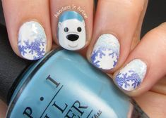Adventures In Acetone: The Digit-al Dozen DOES Winter Wonderland, Day 4: Polar Bear