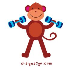 Workout t-shirts and gifts by d-sign2go. Check our selection of  Monkey Designs in t-shirts and gifts