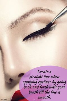How To Apply Eyeliner for Beginners - What you can do as a start is to begin with the simplest way to #apply your #eyeliner – from the inner to the outer edge of you upper lash line. Wiggle the eyeliner between your lashes and make the final application move slighter to create a perfect arc on your eye. Go on with smudging to add a complete look to your final makeup. #howto
