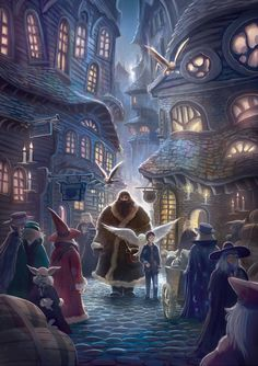 Harry Potter Years 1-7 Artwork by Kazu Kibuishi