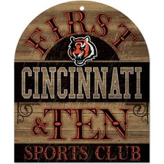 NFL Cincinnati Bengals Wood Sign 10 x 11Inch ** Learn more by visiting the image link.
