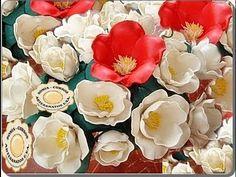 tecnica, como modelar a borracha EVA e fazer flores