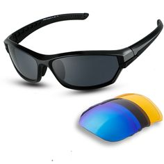dfdcf2e70889 Men Golf Clothing - DUCO Polarized Sports Mens Sunglasses for Ski Driving  Golf Running Cycling Super Light Frame with 3 Sets of Interchangeable Lenses  6216 ...