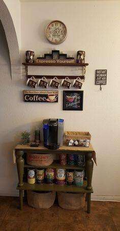 I updated my coffee bar.:)