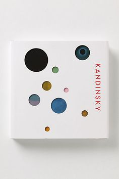Kandinsky collection book by Wilcox Design. Hardcover with die-cut jacket. Book Cover Design, Book Design, Design Art, Print Design, Design Ideas, Graphic Design Books, Graphic Design Typography, Branding And Packaging, Packaging Design