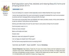 ALENA & STELLA VACATION HOMES  Thank You Deana and her family for very nice review. I'm very happy you spend your vacation with on my vacation home. See you end the year , very excited  Alena Your Happy Host  https://www.homeaway.com/vacation-rental/p4103809
