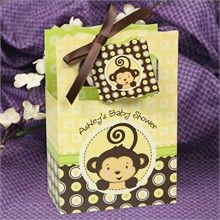 Monkey baby shower favor bags
