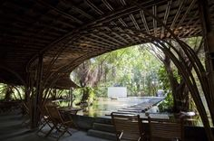 wNw Cafe by Vo Trong Nghia, Vietnam.  Stunning use of bamboo.