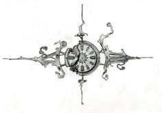 Sketch for the mechanical clock that I've been working on (actually, this drawing is about 8 or 9 months old). To see the progress of this project, visit my website ericfreitas.com