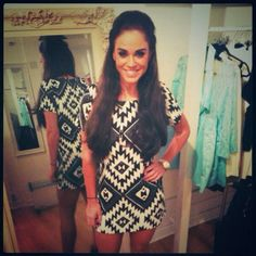 Vicky Pattison Perfect dress and hair to go out in