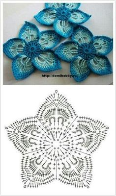 Crocheted motifs..lovely...don't know how to read the pattern but give me time!!!