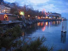 Montreux, Switzerland - along the banks of Lake Geneva...