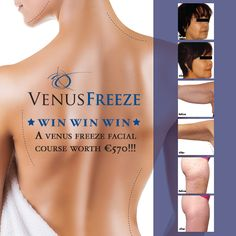 We are super excited about the launch of our new VENUS FREEZE FACIAL TREATMENTS that tighten, sculpt and contour the face, neck and body. To help celebrate the launch, we decided to do something a little bit extra special by running our latest and greatest FREE GIVEAWAY COMPETITION on our facebook page!  Now is your chance to WIN A VENUS FREEZE FACIAL COURSE WORTH €570! We are also going to give away up to 30 runner up prizes of complimentary Venus Freeze Eye Treatments worth €69 each!  ...