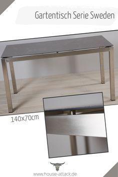Lc Garden Gartentisch Schweden 140 X 70 Cm Edelstahl Keramik Glas