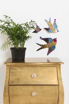 Tin Birds Sculpture Wall Art - Set of 3  #incy interiors  #dream children's room