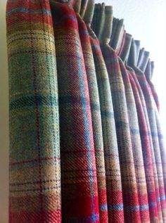 You don't think about wool tartan for window treatments, but it would be wonderful in a library or den. Plaids go with so many other patterns too.