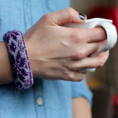 How to make a cozy sock bracelet  - really easy!