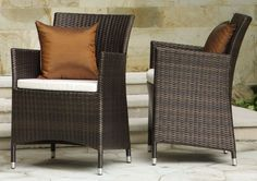 hawaii outdoor arm chair in synthetic wicker rattan