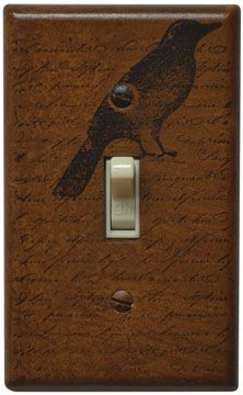 Handpainted, Made in the USA Primitive Switchplate Cover $13