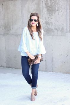6 Easy Ways to Feel Spring Ready I Neutral Mules I Clare V Leopard Clutch