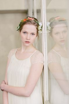 bridal floral crown / Carmen and Ingo Photography