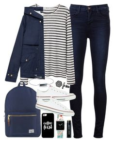 """Outfit for university with a backpack and a Casetfiy Apple Watch Band"" by ferned on Polyvore featuring J Brand, T By Alexander Wang, Herschel Supply Co., Zara, Converse, Casetify, Simply Vera, Monica Vinader, Bobbi Brown Cosmetics and women's clothing"