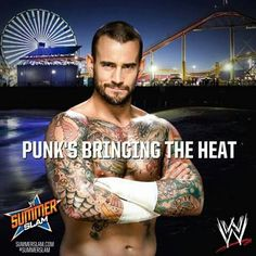 CM Punk will bring the heat to Brock Lesnar this Sunday at Summerslam. Bring The Heat, Bring It On, Summerslam 2013, Catch, Wwe Tna, Wwe World, Wwe Champions, Cm Punk, Brock Lesnar