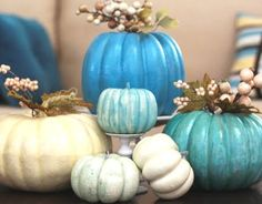 Pretty blue pumpkins
