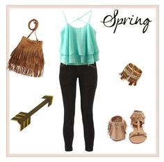"""spring"" by faouzifirdaouss ❤ liked on Polyvore featuring J Brand and Qupid"