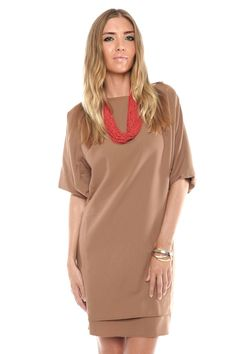camel colored dress