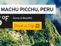 Dribbble - Peru Vacation Website by Kris Carter