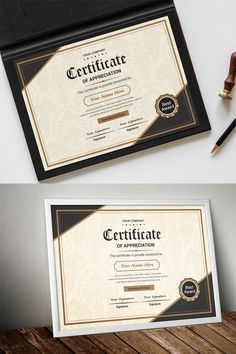 work it Classic Appreciation Certificate Template Certificate Layout, Certificate Background, Certificate Design Template, Certificate Of Appreciation, Award Certificates, Letterhead Template, Letterpress Wedding Invitations, Cool Business Cards, Print Templates