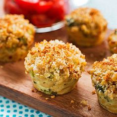 CUPCAKES FOR DINNER - SAVORY DISHES BAKED IN A MUFFIN PAN (includes muffin pan pizza, mini mac-and-cheese--pictured, sweet and sour chicken bundles, chili con cupcake, and petite and sweet shepherd's pie)