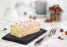 Esterházy sections recipe - Cookie Pie, No Bake Desserts, Pasta Dishes, Food For Thought, Vanilla Cake, Baked Goods, Cake Recipes, Healthy Eating, Sweets