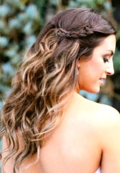 beachy side braid hairstyle