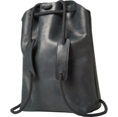 Simplest, cleverly designed rucksack hand made by chrisvanveghel in Amsterdam. The rope tie and straps can be adjusted to make a tote bag. Rustic leather and soft, chunky rope. Unlined. Internal keychain.