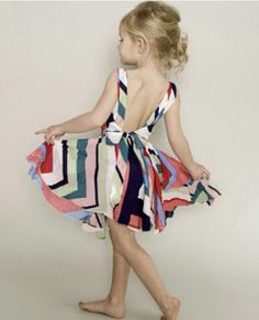 little girl sun dress, backless