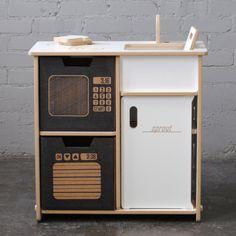 Good looking, gender neutral play kitchen.