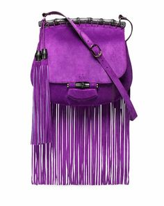 OMG I need to pre-order this beauty!  So pretty :)   Nouveau Suede Fringe Shoulder Bag